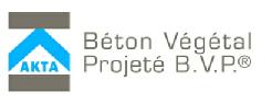 Logo Akta béton végétal projeté